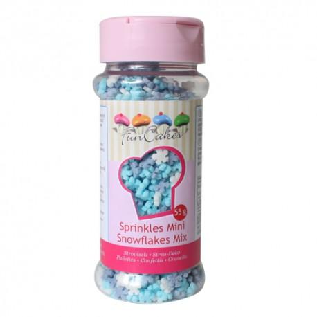 Sprinkles Mini Copos Blanco/Azul 60gr Funcakes