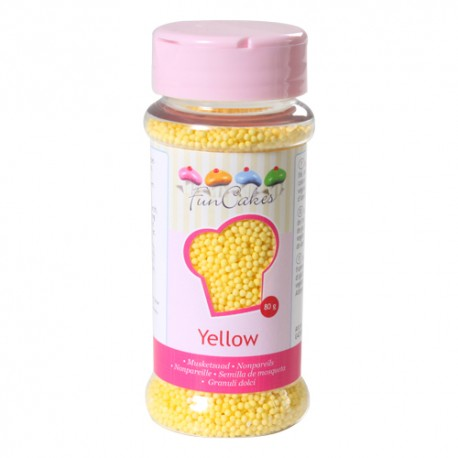 Sprinkles Nonpareils Perlitas Amarillas Funcakes