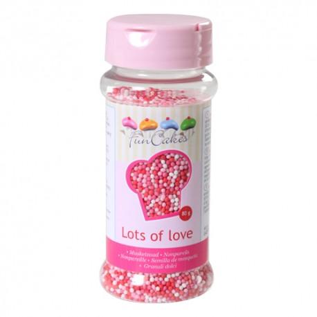 Sprinkles Nonpareils Perlitas Mix Rosa Funcakes