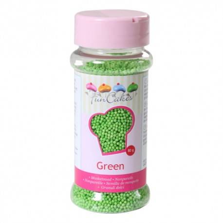 Sprinkles Nonpareils Perlitas Verde Funcakes