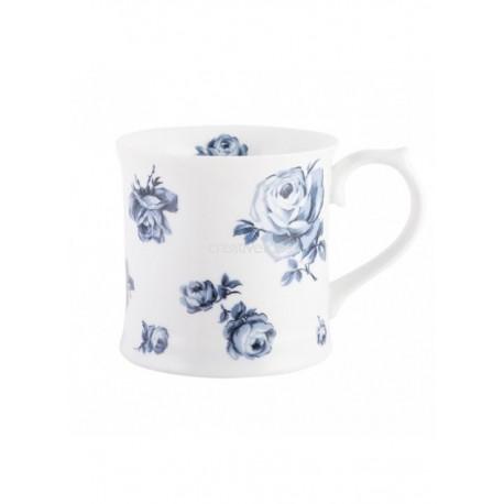 Taza Indigo Azul Flores