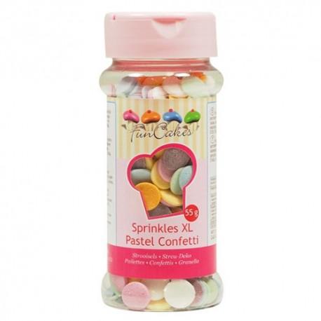 Confeti XL Pastel 55gr Funcakes