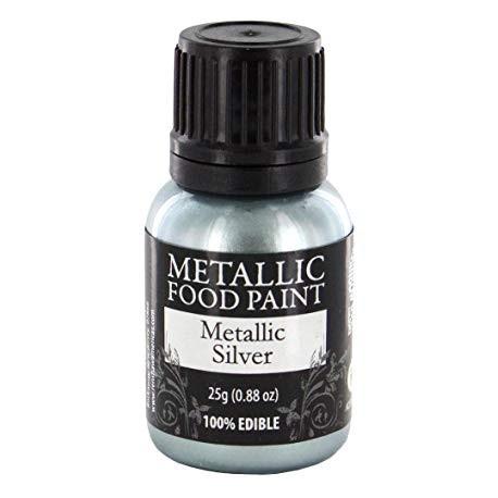 Pintura Metalizada Plata Comestible